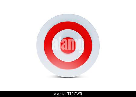 3D-Rendering des Bogenschießens target board Symbol auf weißem Hintergrund. - Stockfoto