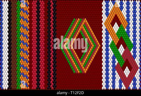 Die traditionelle Ornament der Bewohner des Ostens und der Arabischen Welt, in der die reichen Farben viel Glück und Wohlstand anzuziehen. - Stockfoto
