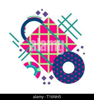 Die Entwicklung des abstrakten Plakat. Geometrische Komposition. Moderne design. - Stockfoto