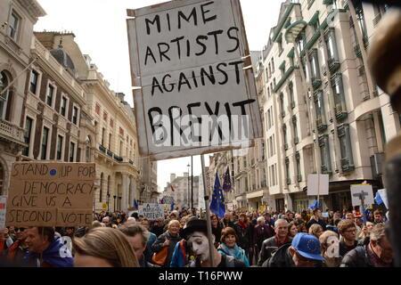 Es den Leuten März in London, Samstag, 23. März 2019. - Stockfoto
