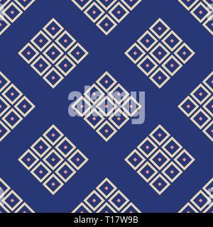 Zusammenfassung nahtlose Muster der Rauten. Wiederkehrende geometrische Fliesen. Vector Farbe Hintergrund. Design für Hintergrund, Hintergrundbild, Verpackung, Stoff. - Stockfoto