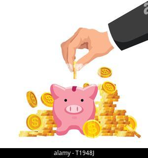 Geld sparen Konzept - Stockfoto