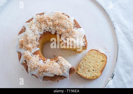 Karotte Zitrone Biskuitteig - Stockfoto