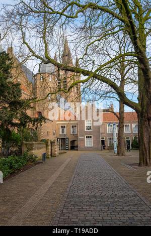 Die Agathaplein neben der Prinsenhof in Delft, Niederlande - Stockfoto