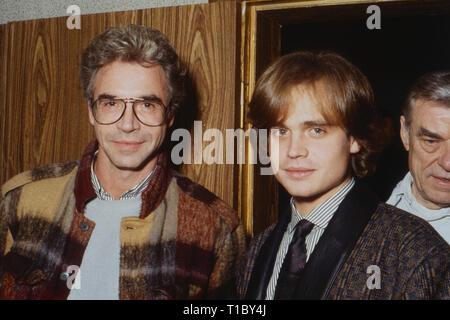 Das Erbe der Guldenburgs, Fernsehserie, Deutschland 1986 - 1988, Darsteller: Wolf Roth (links), Alexander Wussow