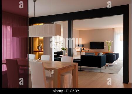 Moderne Wohn- und Essbereich - Stockfoto