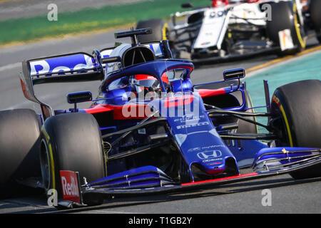 MELBOURNE, AUSTRALIEN - 17. März: Tag Rennen am Tag 4 der 2019 Formel 1 Grand Prix von Australien - Stockfoto