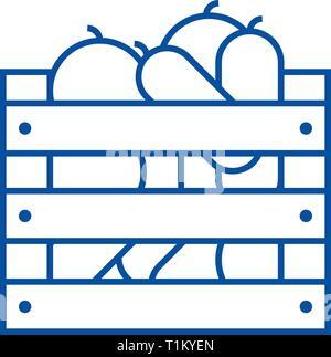 Gemüse in der Ernte Feld Symbol Leitung Konzept. Gemüse in der Ernte, Flachbild vektor Symbol, Zeichen, umriss Abbildung. - Stockfoto