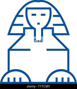 Sphinx Symbol Leitung Konzept. Sphinx flachbild Vektor Symbol, Zeichen, umriss Abbildung. - Stockfoto
