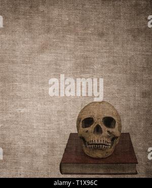 Sehr alten Grunge strukturierte Buch cover Hintergrund verbrannt - Stockfoto