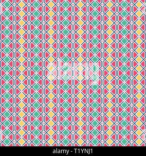 Abstrakte geometrische Muster mit Linien. Die nahtlose Vektor Hintergrund. Grafik modernen Muster in gelb, rosa, grün - Stockfoto