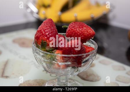 Erdbeeren ohne Sahne - Stockfoto