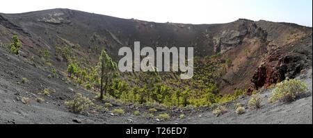 Panorama der Vulkan San Antonio (La Palma, Kanarische Inseln) - Stockfoto
