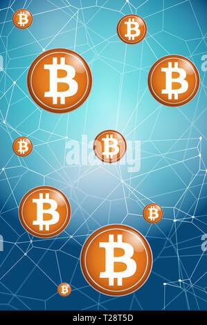 Bitcoin und blockchain Konzept - Stockfoto