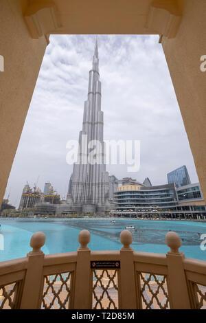 Burj Dubai Wolkenkratzer in Dubai, Vereinigte Arabische Emirate - Stockfoto