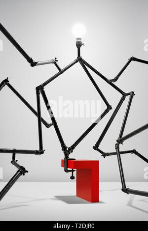 Nackte Lampe Leuchte Teil der komplizierten Apparat - Stockfoto