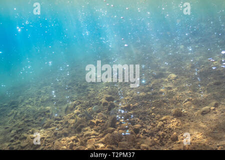 Unter Wasser, Erdwärme blasen, Soufrière, Dominica - Stockfoto