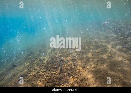 Unter Wasser, Erdwärme blasen, Soufrière, Dominica
