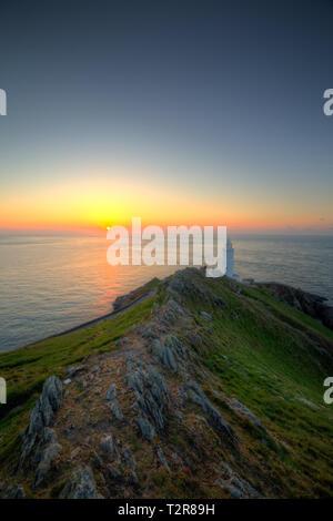 Ein Panoramabild von Point Lighthouse Start in die South Hams, Devon. - Stockfoto