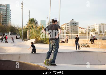 Skater in Barcelona - Stockfoto