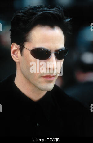 KEANU REEVES, DER MATRIX, 1999 - Stockfoto
