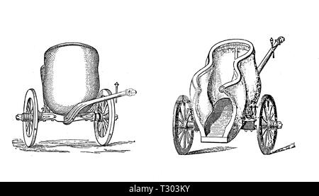 Der römischen Antike racing wagen für Sport, Transport, und Zeremonien - Stockfoto
