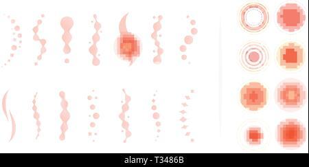 Rückenschmerzen. Rückenschmerzen abstract Vector Icons. Medizinische ungewöhnliche isoliert Infografik Elemente. Vector Illustration - Stockfoto