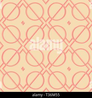Abstrakte geometrische Figuren - leuchtende Linien und Kreise auf dunklem Hintergrund. Vektor nahtlose Muster für Textilwaren, Drucke, Wallpaper etc. Availab - Stockfoto