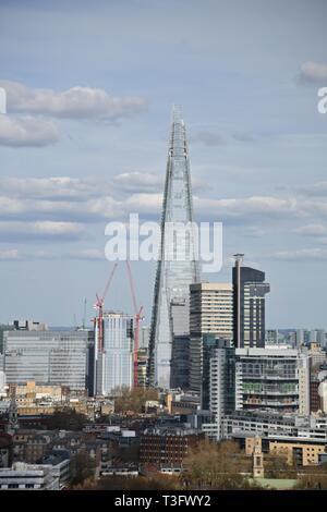 The Shard ist das zweithöchste Gebäude in London - Stockfoto
