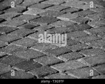Kopfsteinpflaster in Grau mit mikrokontrast - Stockfoto