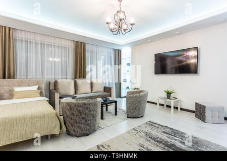 Luxure Halle Interior Loft Wohnung Apartments Mit Stuhl Kommode Und