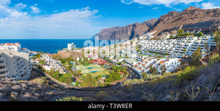 Puerto de Santiago Stadt, Atlantik Küste, Teneriffa, Kanaren, Spanien - Stockfoto
