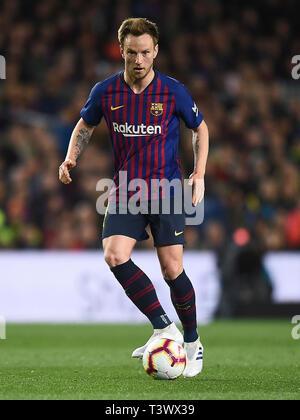 Ivan Rakitic des FC Barcelona während des Spiels zwischen dem FC Barcelona vs Atlético de Madrid von LaLiga, Datum 31, 2018-2019 Saison. Das Stadion Camp Nou. Barcelona, Spanien - 06. Apr 2019. - Stockfoto
