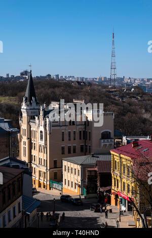 Kiew Schloss von Richard Löwenherz (orlow Haus) Andriyivskyy Abstieg - Stockfoto