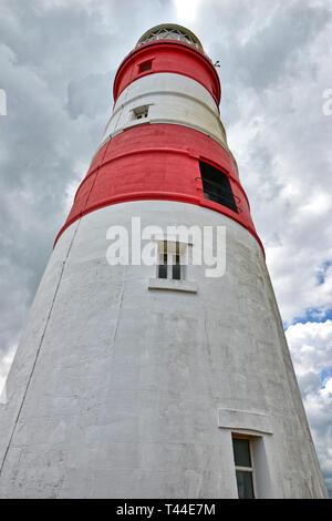 Orfordness Lighthouse auf Orford Ness, Suffolk, Großbritannien - Stockfoto
