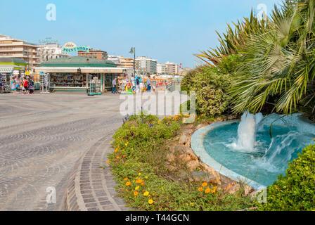 Playa del Sol, Strand Riccione, in der Emilia Romagna, Italien | Playa del Sol Beach, Riccione, in der Emilia Romagna, Italien - Stockfoto