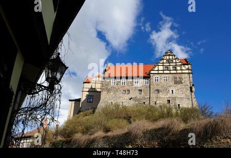 Burg auf dem Schlossberg (Burg) in Quedlinburg, Sachsen-Anhalt, Deutschland - Stockfoto