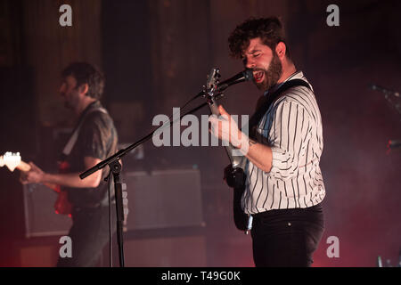 UK Rock Band Fohlen im Orpheum Theatre in Vancouver, BC am 18. März 2019 - Stockfoto