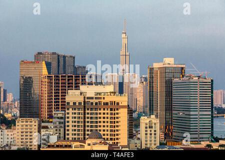 Sky Line in Ho Chi Minh City, Saigon, Vietnam, Asien, - Stockfoto