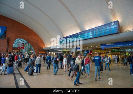 Foyer, Hauptbahnhof, Köln, Nordrhein-Westfalen, Deutschland - Stockfoto