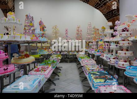 Party Kuchen an pasteleria Ideal Bäckerei in Mexiko City, Mexiko - Stockfoto