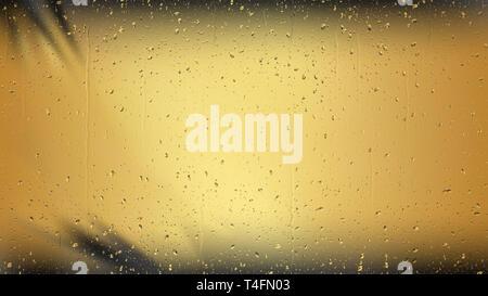 Cool Gold Wassertropfen Hintergrund Textur - Stockfoto