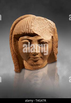 Antike Ägyptische Quarz statue Kopf des Prinzen Khaemwase, Sohn des Pharao Ramses II. 19. Dynastie Alten Ägypten, 1260 v. Chr.. Neues Museum Berlin Kat.-Nr. - Stockfoto