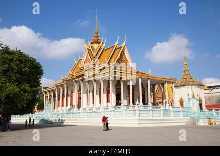 Die Silberne Pagode im Königspalast, Phnom Penh, Kambodscha, Südostasien, Asien - Stockfoto