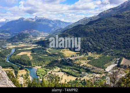 Die majestätischen Futaleufú Flusses, Futaleufú finden, Patagonien, Chile - Stockfoto