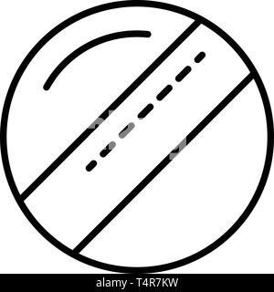 Krocket Kugel Symbol, outline Style - Stockfoto