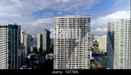 Tokyo Bay in Luftaufnahme - Stockfoto