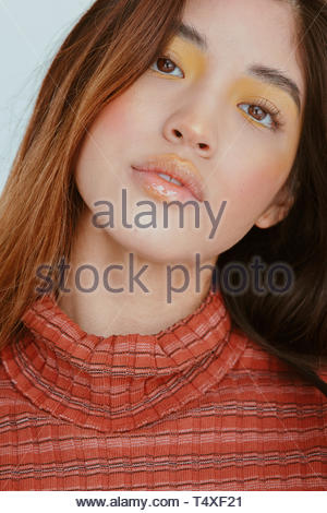 Geneigter Kopf geschossen - Stockfoto