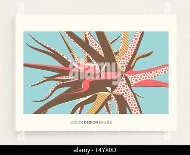 Design für Print Produkte. Hintergrund für Poster, Karten, Flyer, Broschüre und Web Design. Kunst Vector Illustration. - Stockfoto