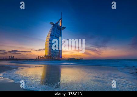 UAE, Dubai, Jumeirah, Burj Al Arab Hotel - Stockfoto
